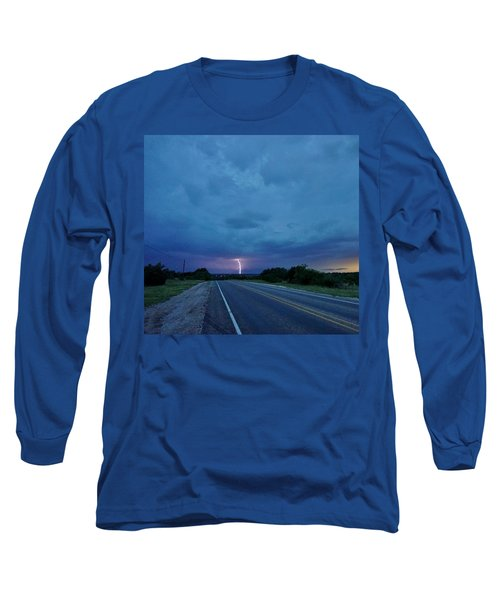 Lightning Over Sonora Long Sleeve T-Shirt by Ed Sweeney