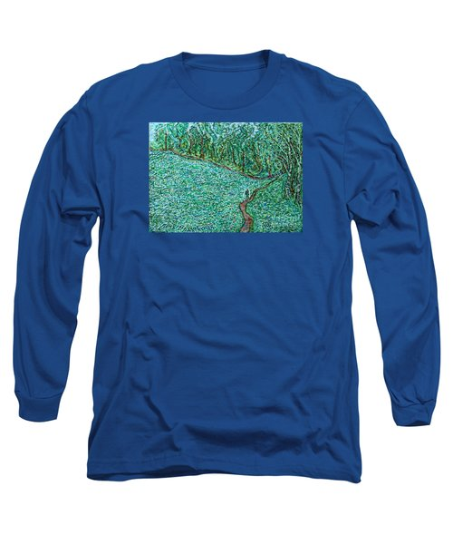 Roadside Green Long Sleeve T-Shirt by Anna Yurasovsky