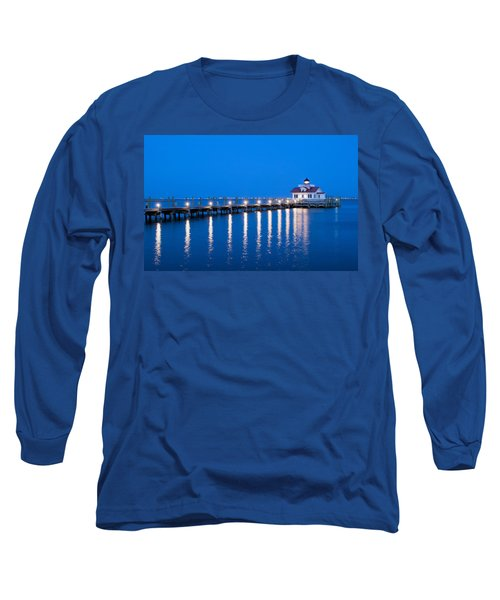 Long Sleeve T-Shirt featuring the photograph Roanoke Marshes Lighthouse Revisited by Marion Johnson