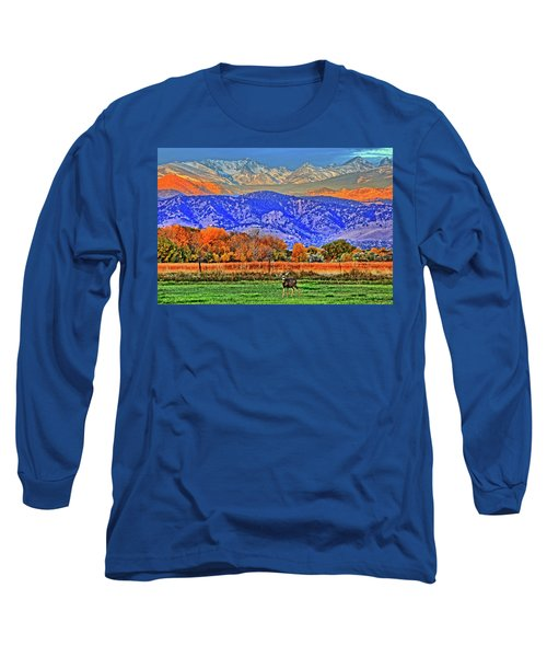 Long Sleeve T-Shirt featuring the photograph Rocky Mountain Deer by Scott Mahon