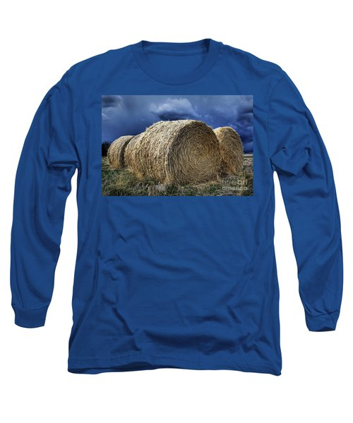 Long Sleeve T-Shirt featuring the photograph Round Bales by Brad Allen Fine Art