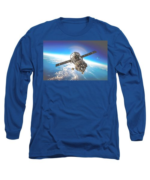 Majestic Blue Planet Earth Long Sleeve T-Shirt by Maciek Froncisz