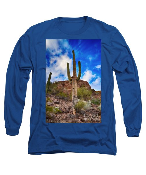 Long Sleeve T-Shirt featuring the photograph Saguaro Cactus by Donna Greene