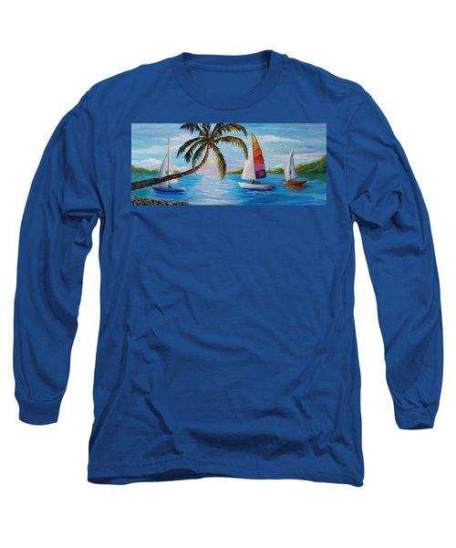 Sailing At Sunset Long Sleeve T-Shirt