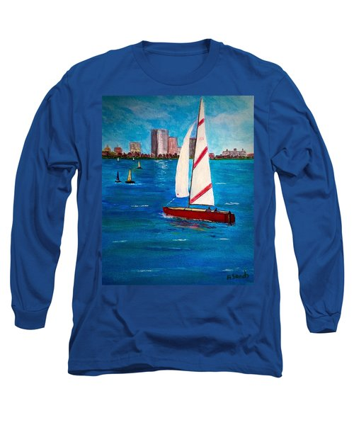 Sailing On The Charles Long Sleeve T-Shirt