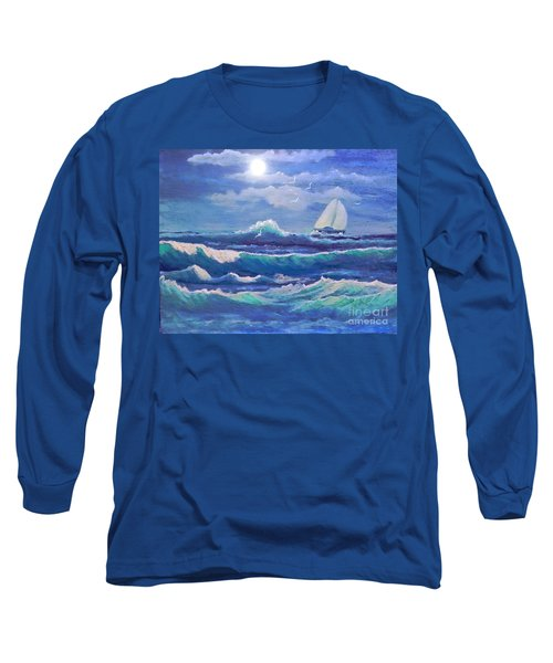 Sailing The Caribbean Long Sleeve T-Shirt by Holly Martinson