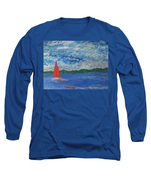 Sailing The Wind Long Sleeve T-Shirt by John Scates
