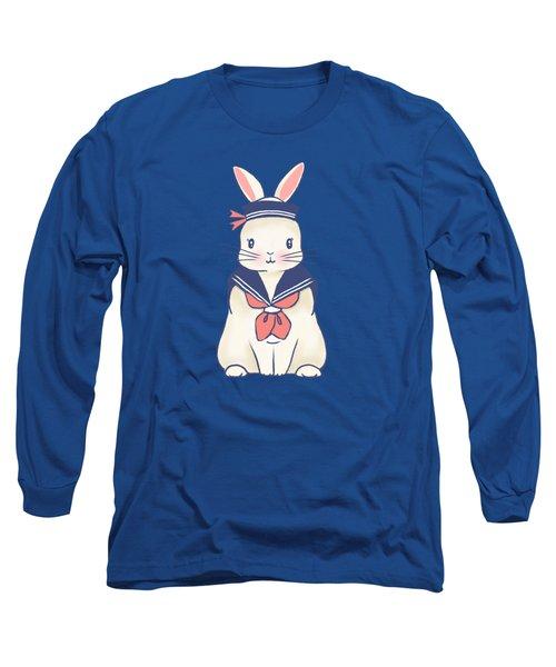 Sailor Bunny At The Beach Long Sleeve T-Shirt
