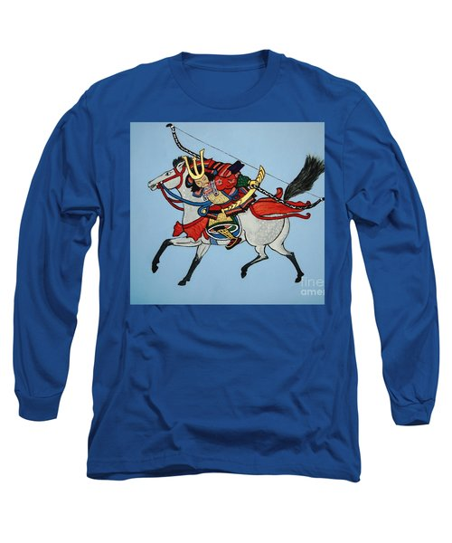 Long Sleeve T-Shirt featuring the painting Samurai Rider by Stephanie Moore