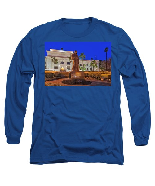 Long Sleeve T-Shirt featuring the photograph San Buenaventura City Hall by Susan Candelario