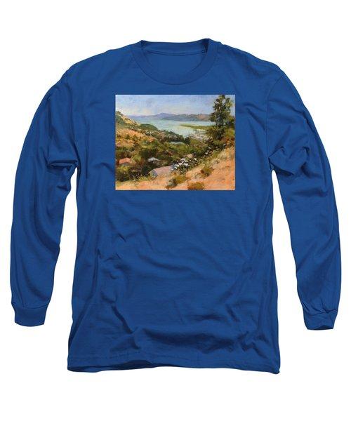 San Rafael Bay From Via La Cumbre, Greenbrae, Ca Long Sleeve T-Shirt