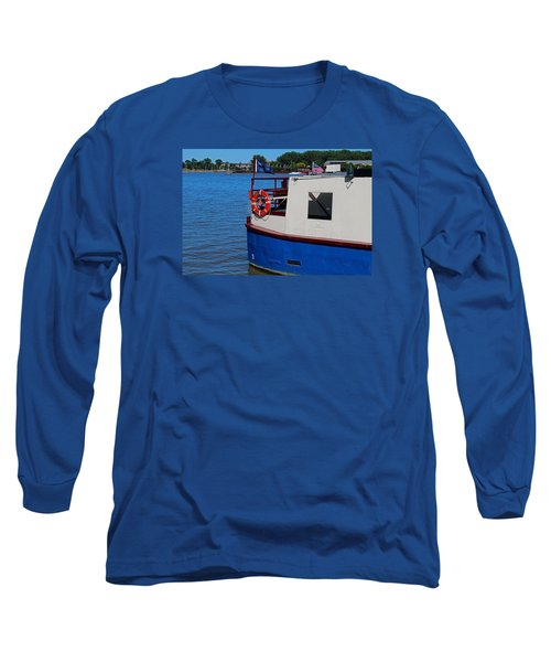 Long Sleeve T-Shirt featuring the photograph Sandpiper On The Maumee by Michiale Schneider