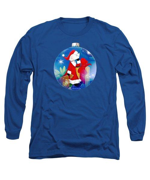 Santa Mouse Child's Shirt Long Sleeve T-Shirt