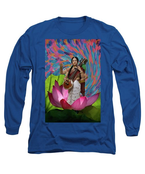 Saraswati Long Sleeve T-Shirt by David Clanton