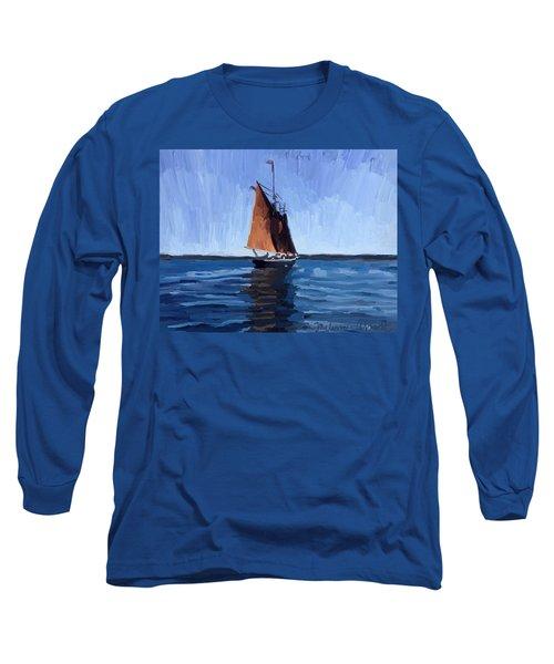 Schooner Roseway In Gloucester Harbor Long Sleeve T-Shirt