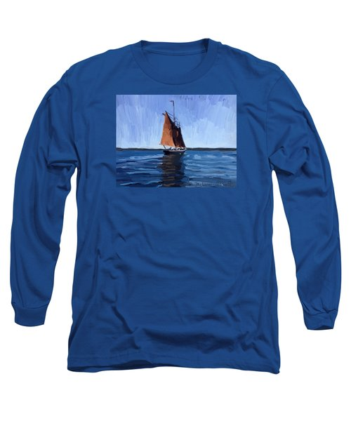 Schooner Roseway In Gloucester Harbor Long Sleeve T-Shirt