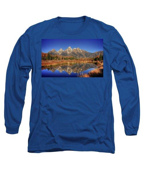 Schwabacher Landing Grand Teton National Park Long Sleeve T-Shirt by James Hammond