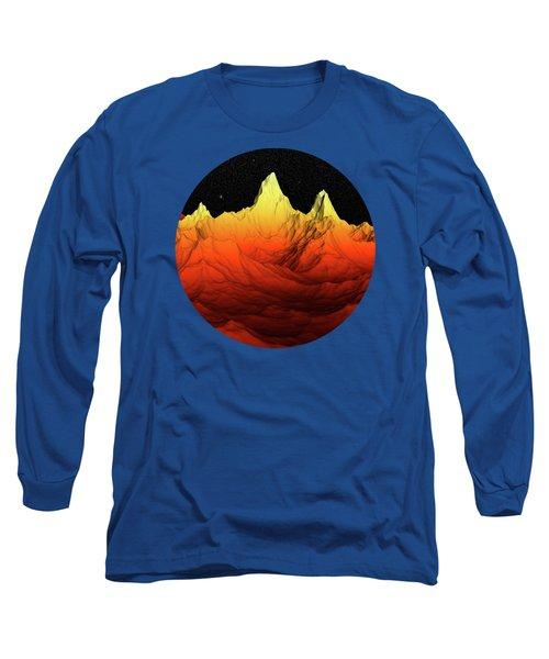 Sci Fi Mountains Landscape Long Sleeve T-Shirt