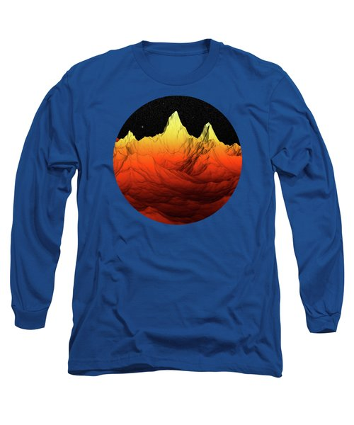 Sci Fi Mountains Landscape Long Sleeve T-Shirt