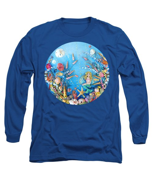 Sculpted Mermaid Sea World Long Sleeve T-Shirt