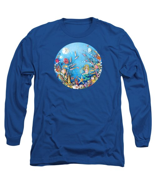Sculpted Mermaid Sea World Long Sleeve T-Shirt