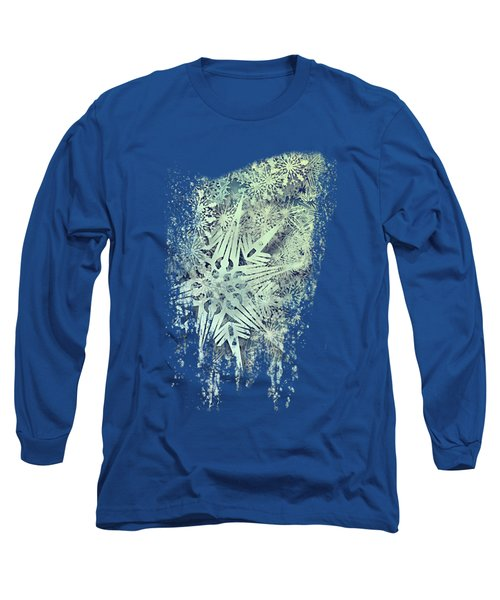 Sea Of Flakes Long Sleeve T-Shirt by AugenWerk Susann Serfezi
