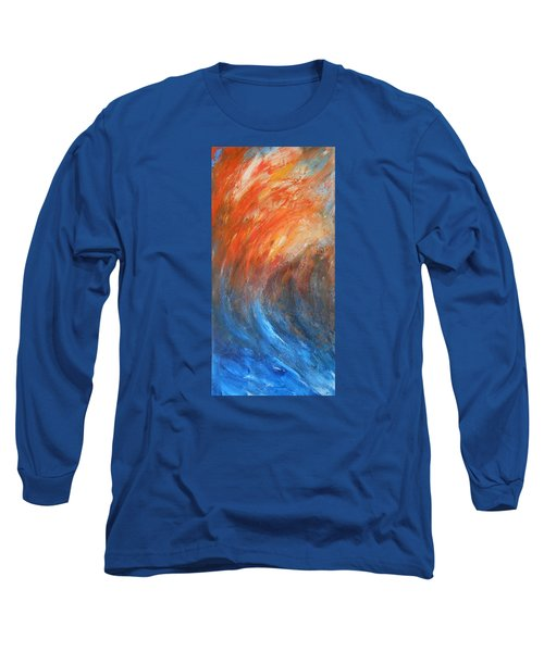 Long Sleeve T-Shirt featuring the painting Sea Of Passion by Jane See