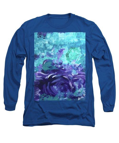 Sea Purple Long Sleeve T-Shirt