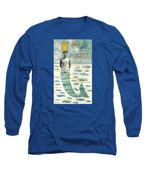 Long Sleeve T-Shirt featuring the painting Sea Queen by Casey Rasmussen White
