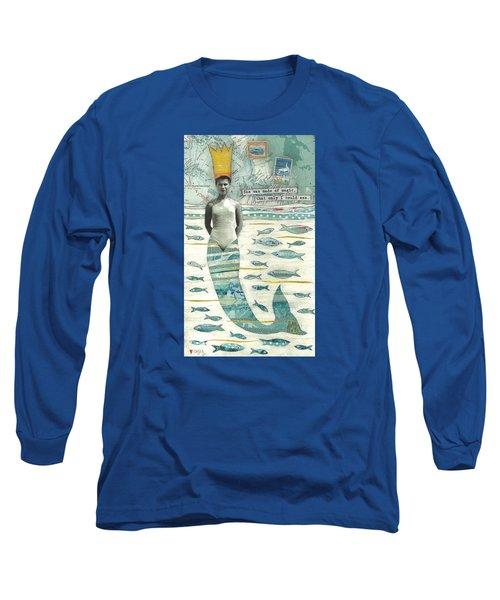 Sea Queen Long Sleeve T-Shirt by Casey Rasmussen White
