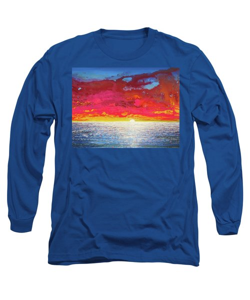 Sea Splendor Long Sleeve T-Shirt by Mary Ellen Frazee