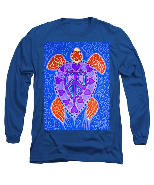 Sea Turtle Hearts 2 Long Sleeve T-Shirt by Nick Gustafson