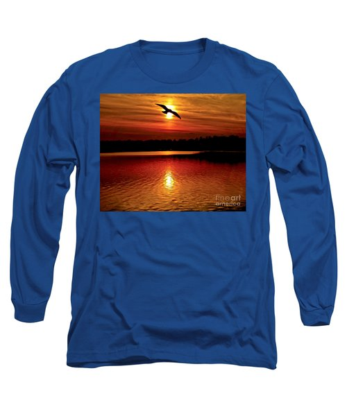 Seagull Homeward Bound Long Sleeve T-Shirt by Carol F Austin
