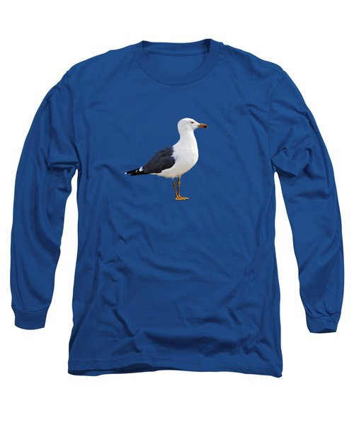 Seagull Portrait Long Sleeve T-Shirt by Sue Melvin