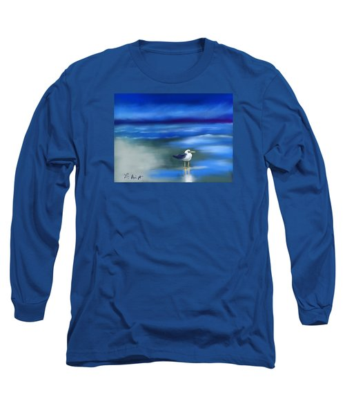 Seagull Standing 2 Long Sleeve T-Shirt by Frank Bright