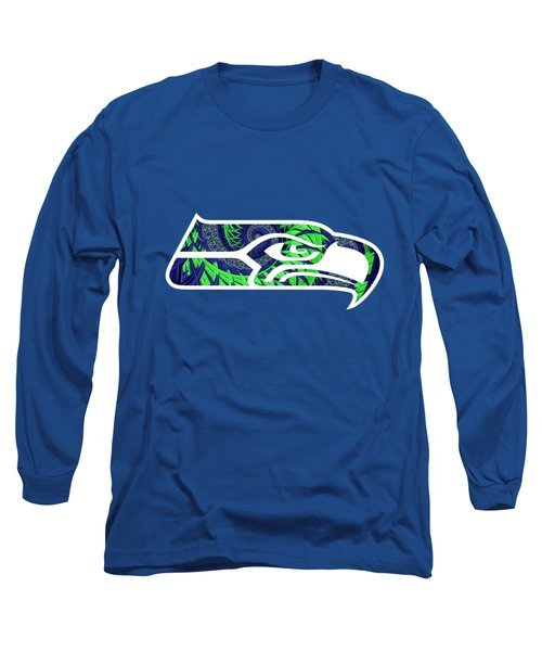 Seahawks Fractal Long Sleeve T-Shirt