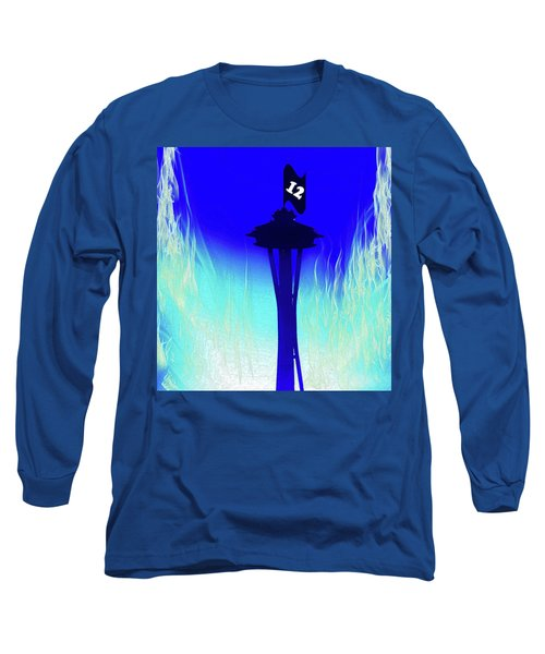 Seahawks Sunset At The Space Needle Long Sleeve T-Shirt