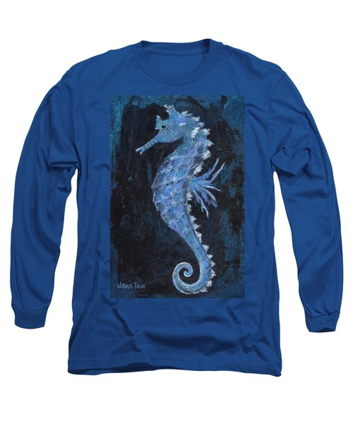 Long Sleeve T-Shirt featuring the painting Seahorse by Jamie Frier