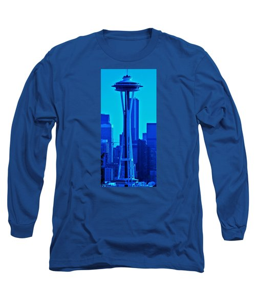Seattle Blue Long Sleeve T-Shirt by Martin Cline