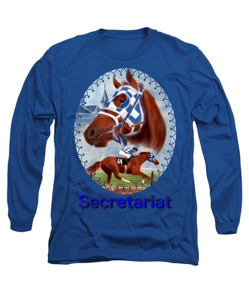 Secretariat Racehorse Portrait Long Sleeve T-Shirt