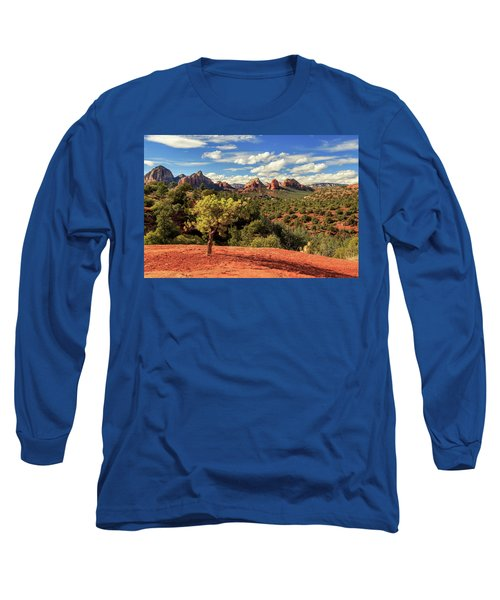 Sedona Afternoon Long Sleeve T-Shirt by James Eddy