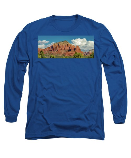 Long Sleeve T-Shirt featuring the photograph Sedona, Rocks And Clouds by Bill Gallagher