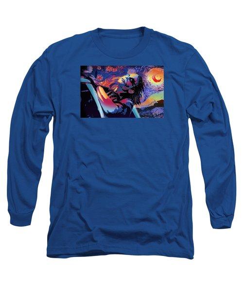Serene Starry Night Long Sleeve T-Shirt by Surj LA