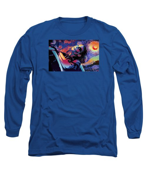 Serene Starry Night Long Sleeve T-Shirt
