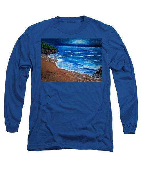 Serene Seashore Long Sleeve T-Shirt