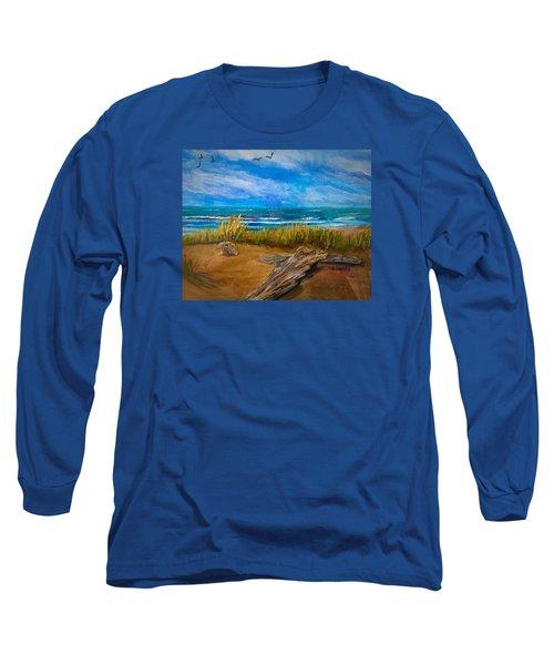 Serenity On A Florida Beach Long Sleeve T-Shirt