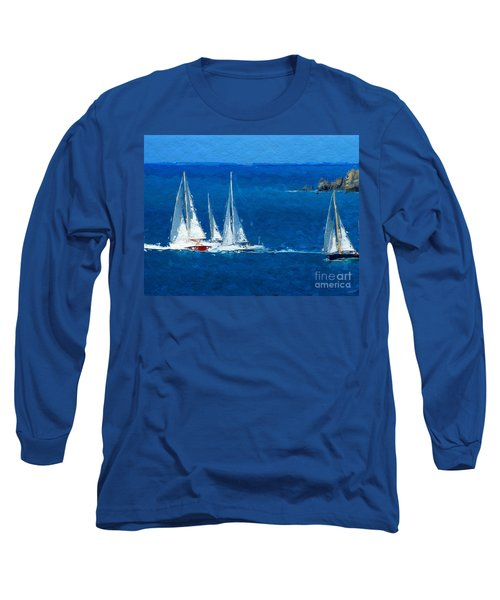 Long Sleeve T-Shirt featuring the digital art Set Sail by Anthony Fishburne