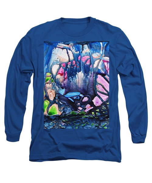 Shades Of Tiffany Long Sleeve T-Shirt by Joan Hartenstein
