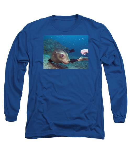 Shaking Hands And Fins Long Sleeve T-Shirt