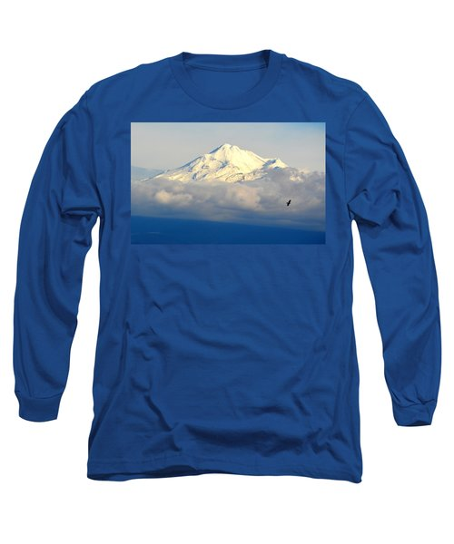 Long Sleeve T-Shirt featuring the photograph Shasta Near Sunset by AJ Schibig